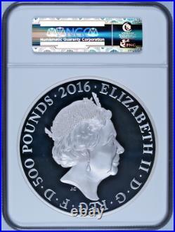 UK Great Britain 2016 Silver Kilo £500 90th Birth Elizabeth II NGC PF70 Mint-250