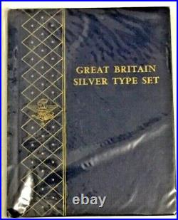Whitman Great Britain Silver Type Set Album #9517- Excellent Condition
