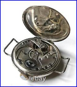 Ww1 Silver Trench Watch Swiss Hallmarked Army Military World War One Soldier